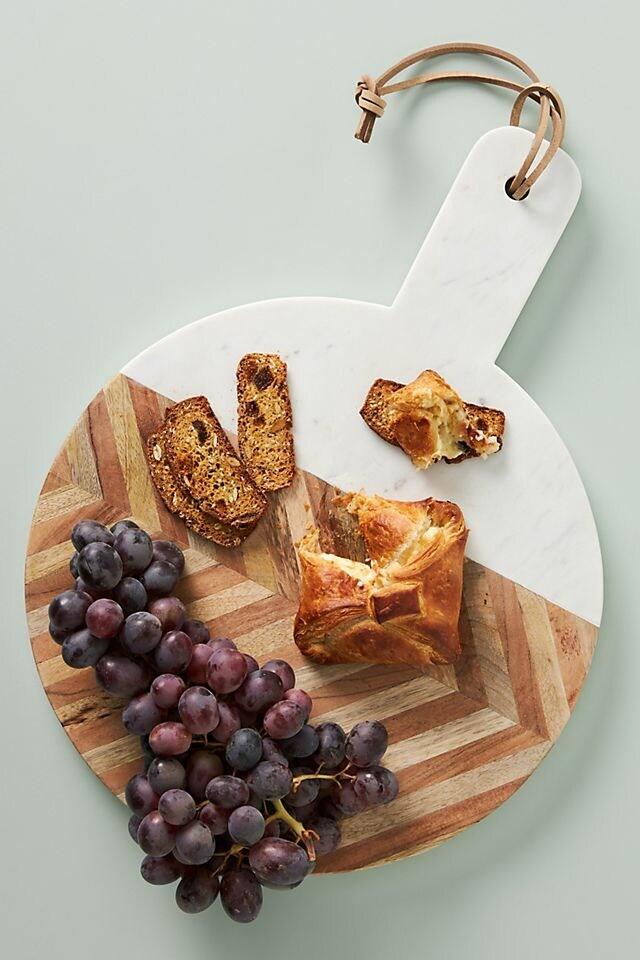 Chevron Marble Round Cheese Board