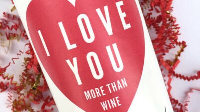 Valentine's Wine Labels
