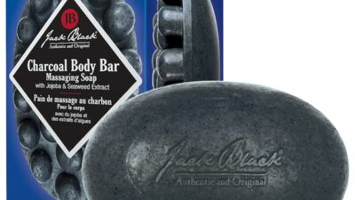 Jack Black Charcoal Body Bar Massaging Soap