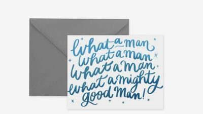 Mighty Good Man Greeting Card