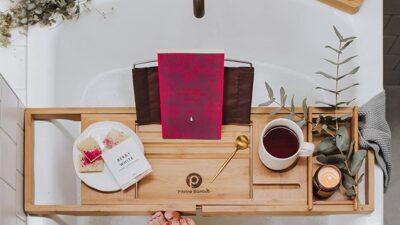 Royal Craft Luxury Wood Bathtub Caddy Tray